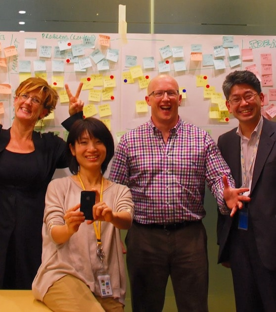 SAP design thinking Japan team