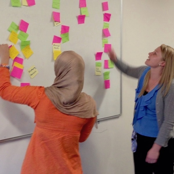 Affinity mapping at the University of Canberra