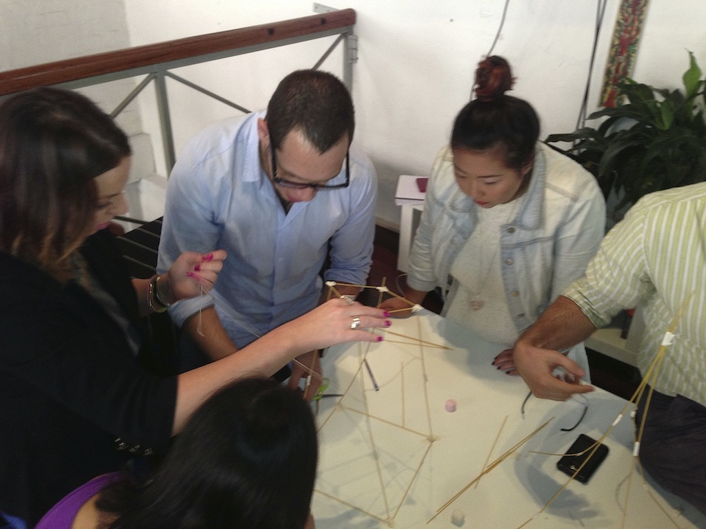 Marshmallow Challenge at Pollenizer